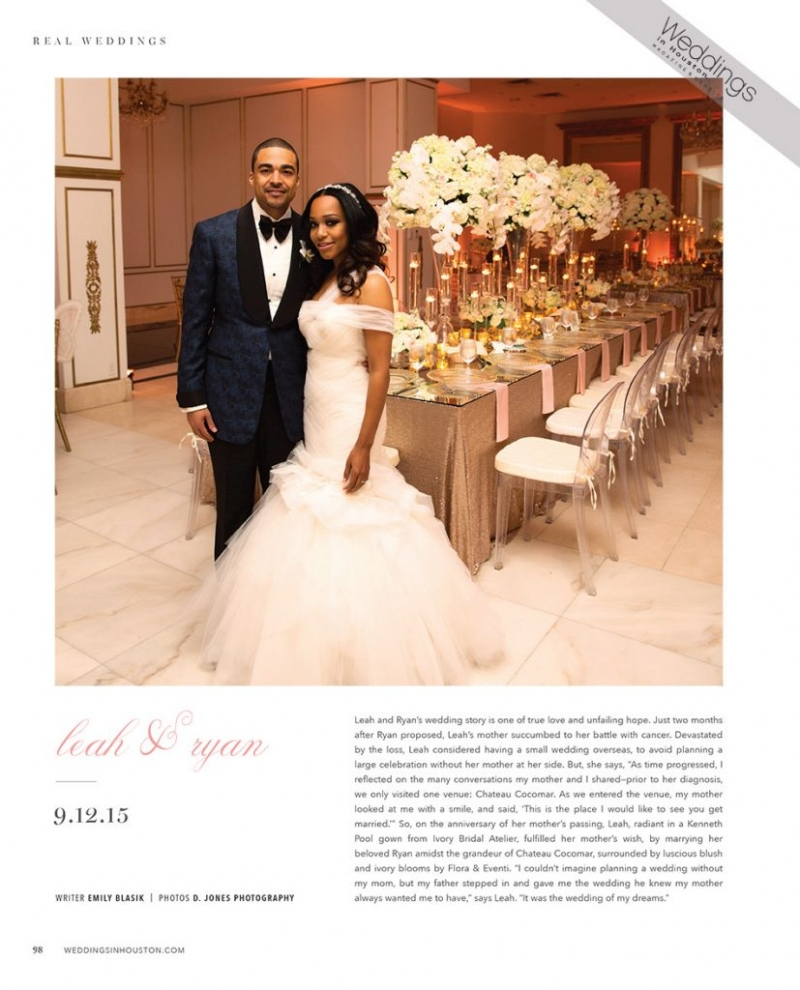 Weddings in Houston Magazine Featured Wedding at Chateau Cocomar ...
